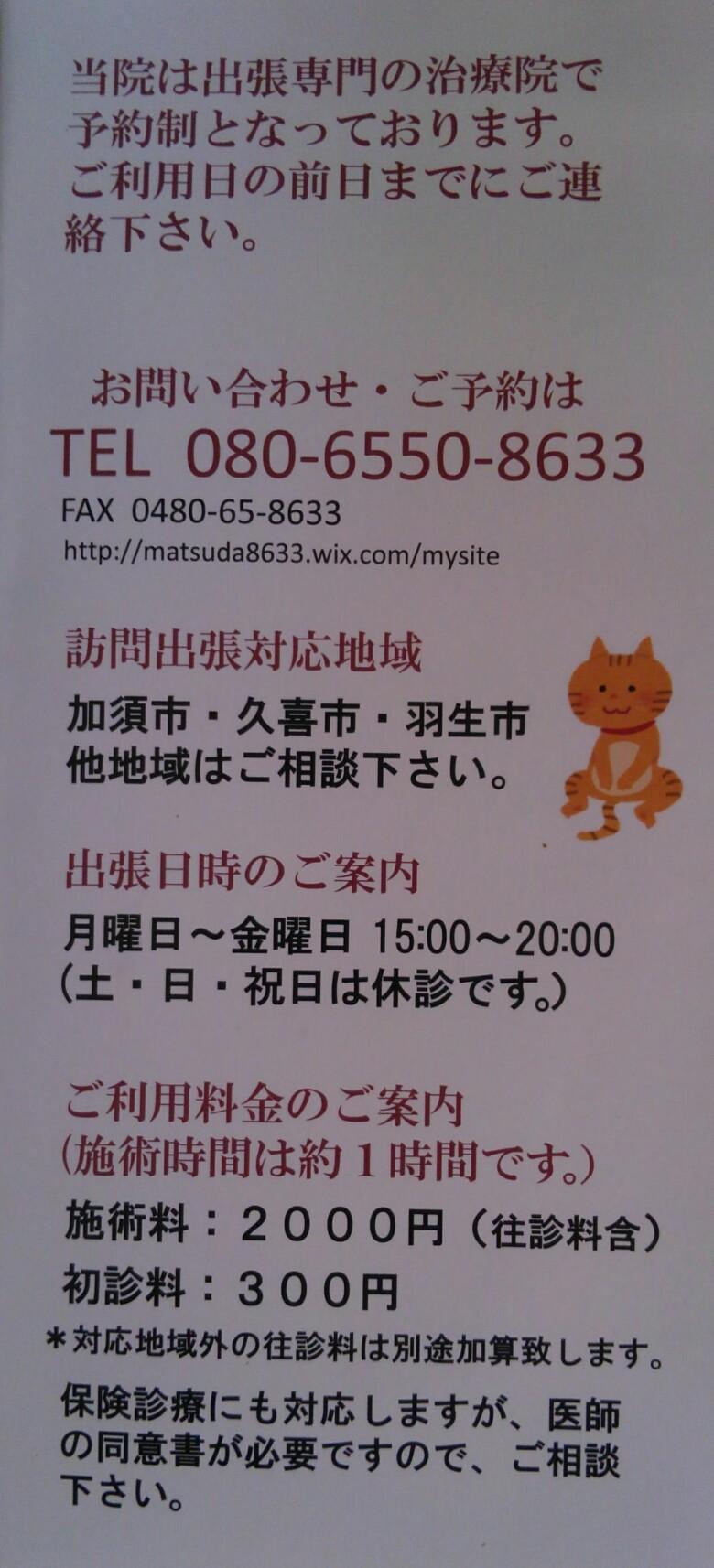 加須鍼灸訪問治療2
